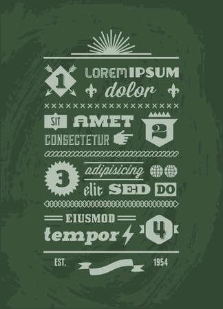 tipografia: vendimia Infograf�a Retro tipogr�ficas con escudo, cinta