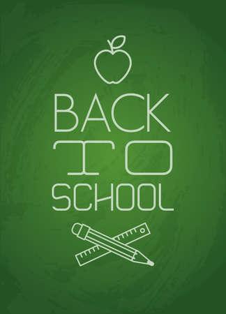 green chalkboard: green chalkboard with back to school