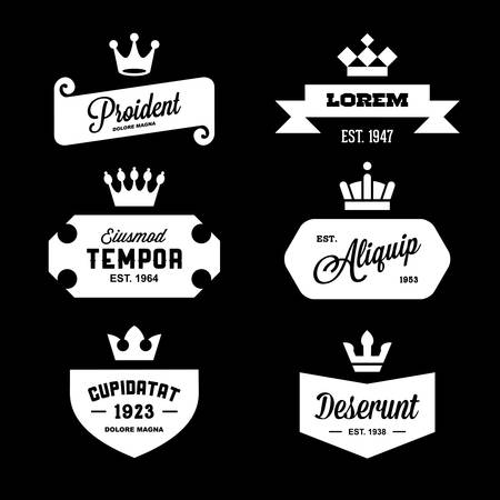 crown tattoo: monochrome antique label with crown