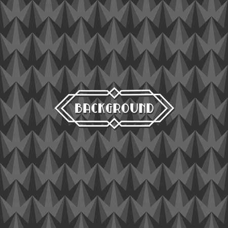 art deco background: seamless retro art deco background with label Illustration