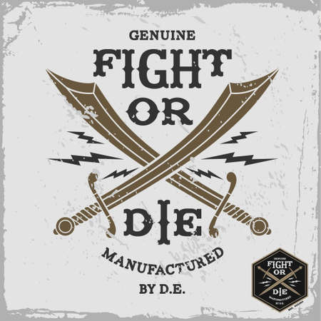 vintage label fight or die (T-Shirt Print) Vector