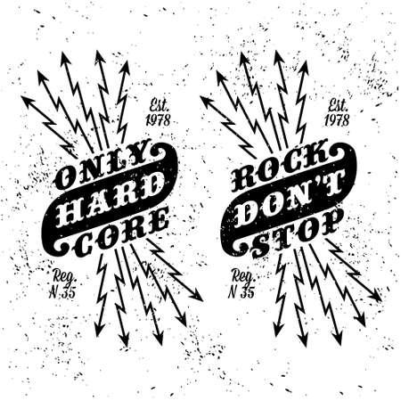 hard rock: vintage label  rock dont stop ( T-Shirt Print )