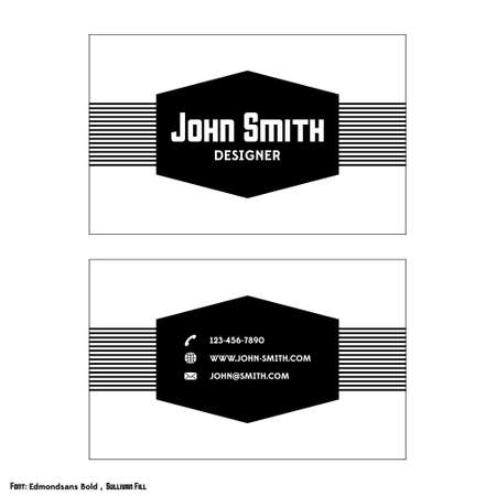 visit card: Vintage business card template with strips