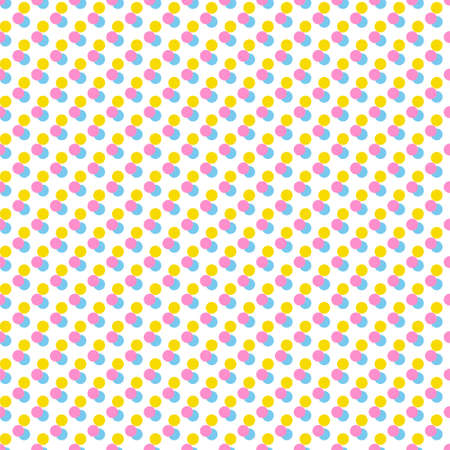 yello: seamless background with color dots Illustration