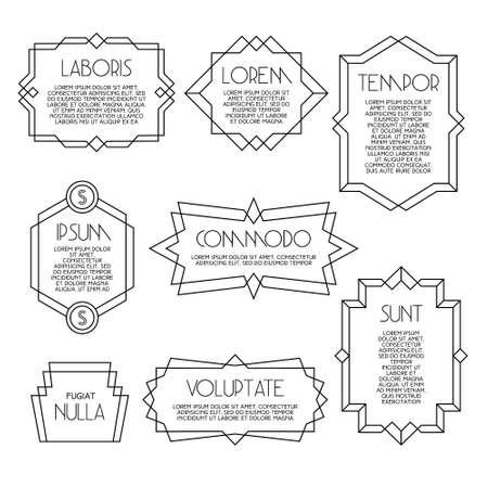 minimal monochrome geometric vintage label Banco de Imagens - 31674002