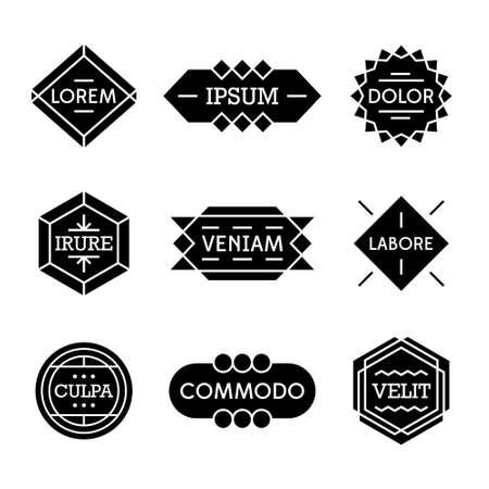 minimal monochrome geometric vintage label