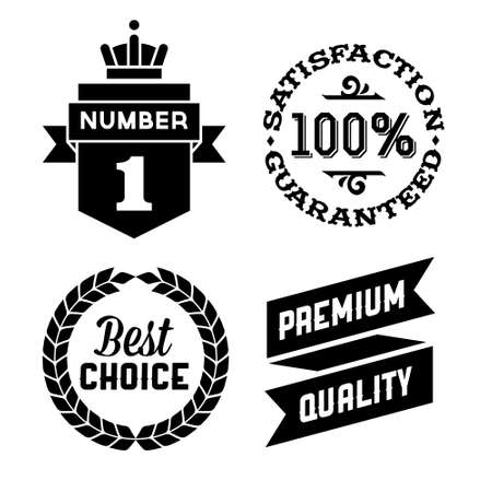 satisfaction guaranteed: vintage label with satisfaction guaranteed and best choice