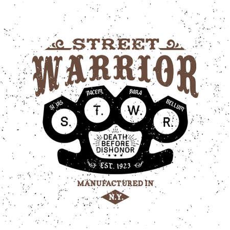 guerrero: etiqueta del vintage calle guerrero