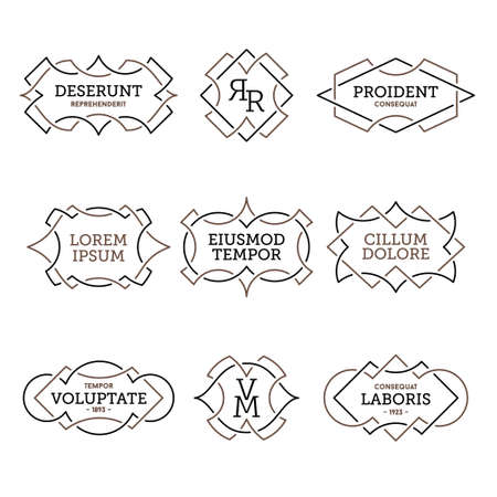 monochrome geometric vintage label
