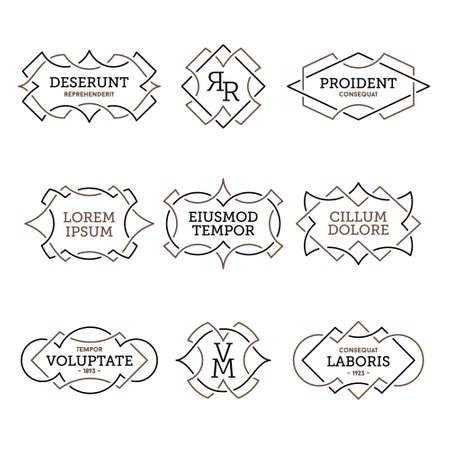 monochroom geometrische vintage label