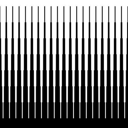 abstract op art gradiënt naadloze zwart-wit achtergrond Stock Illustratie