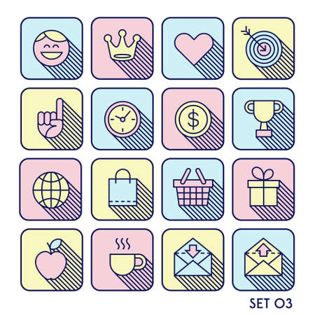 shadow face: hipster  minimal  icon set with shadow face crown heart  arrow  watch  apple letter
