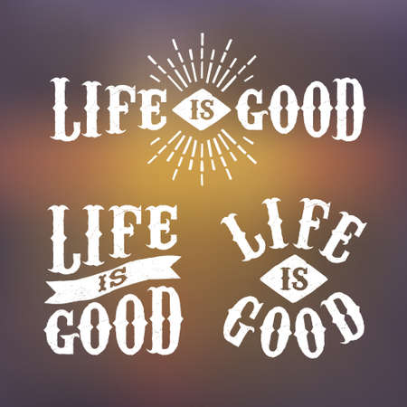 good life: hipster label life is good