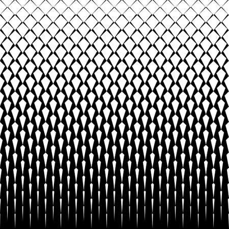 벡터 아트 데코 타일 패턴. 마름모와 추상 그라데이션 op 아트 원활한 단색 배경