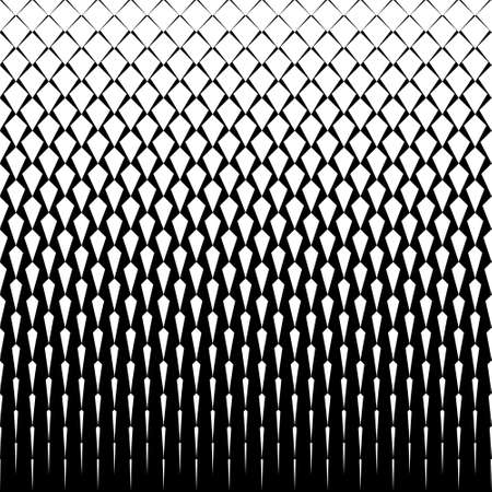 Vector art deco tiles pattern. Abstract gradient op art seamless monochrome background with rhombus