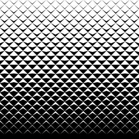 vector betegelt patroon. abstract gradient op-art naadloze zwart-wit achtergrond met ruit