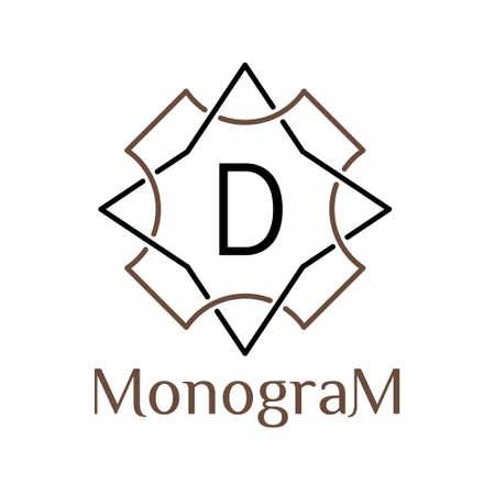 monochrome arabic vector hipster minimal vintage linear frame , border , label ,  badge for your logo type or monogram