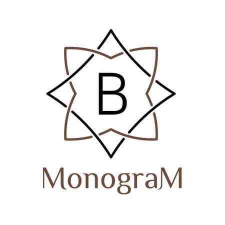vintage classic minimal monochrome vector hipster  linear frame , border , label ,  badge for your monogram or logo