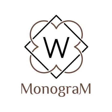celtic minimal  monochrome vector hipster retro linear frame , border , label ,  badge for your monogram or logo