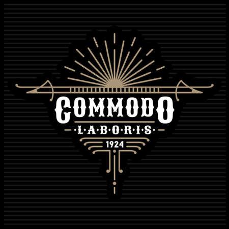 art deco classic linear monochrome golden luxury hipster minimal geometric vintage vector frame , border , label  for your logo, badge or crest