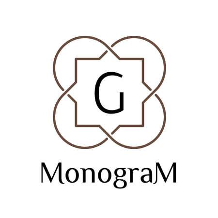 art logo: linear art deco classic luxury islamic monochrome golden minimal hipster geometric vintage vector monogram, frame, border, label, logo, badge, crest for club, bar, cafe, restaurant, hotel, boutique