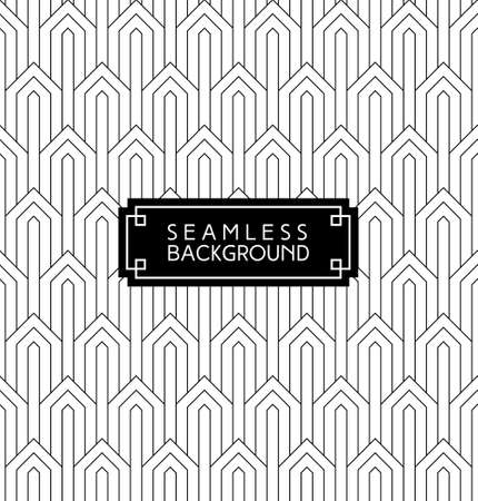muster: nahtlose Art-Deco-Monochrom-arabisch Schwarz-Weiß-Hintergrundbild oder Hintergrund mit Hipster-Label oder Abzeichen