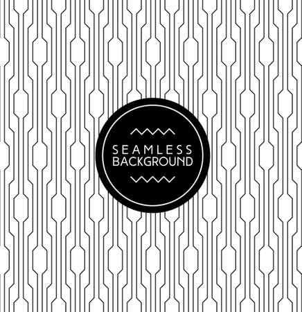 monochrome naadloze art deco Arabisch zwart en wit behang of achtergrond met hipster label of badge Stock Illustratie