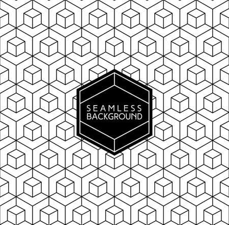 forme geometrique: Art Déco monochrome transparente arabique papier peint noir et blanc ou fond avec l'étiquette de hippie ou un badge