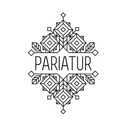art deco monochrome luxury antique hipster minimal geometric vintage linear vector frame , border , label  for your logo, badge or crest for club, bar, cafe, restaurant, hotel, boutique