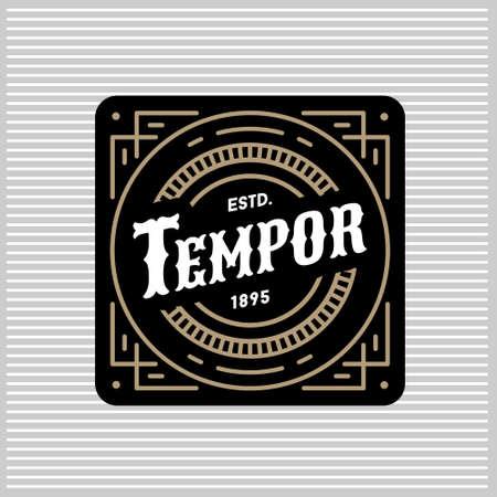 art deco monochrome luxury antique gold hipster minimal geometric vintage linear vector frame , border , label  for your logo, badge or crest for club, bar, cafe, restaurant, hotel, boutique