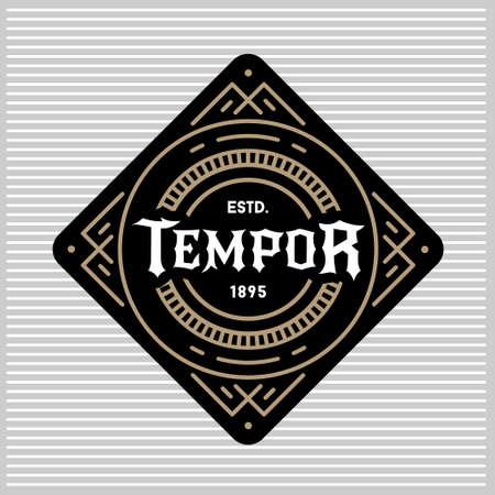 deco art: luxury antique art deco monochrome gold hipster minimal geometric vintage linear vector frame , border , label  for your logo, badge or crest for club, bar, cafe, restaurant, hotel, boutique