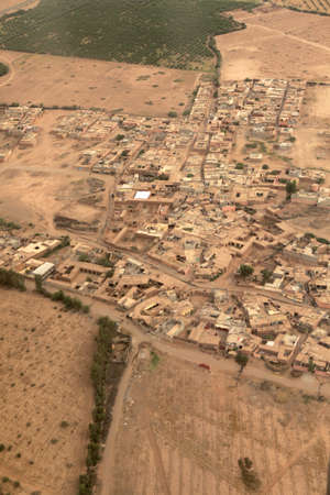 bird's eye view of a morocco village Standard-Bild - 105416076