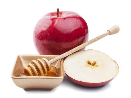 Apple and honey for Rosh Hashana jewish new year photo