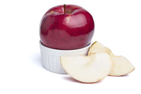 rou: Red apple isolated on white background cutout Stock Photo