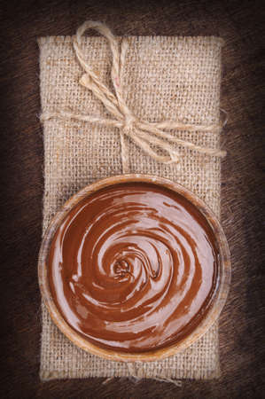 chocolate pudding: Bowl of chocolate cream