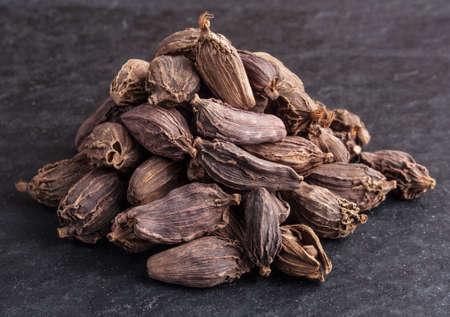 Black cardamom pods photo