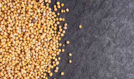 Mustard seeds - close up view, can be used as a background photo