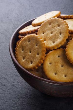 crackers: Galletas hechas en casa Foto de archivo