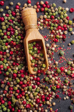 peppercorns: Mixed peppercorns Stock Photo