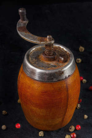 Vintage pepper mill photo