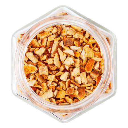bitter orange: Bitter orange peel isolated on white background