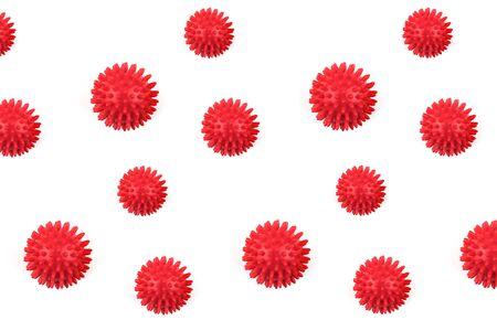 Coronavirus model isolated on white background. Pattern.