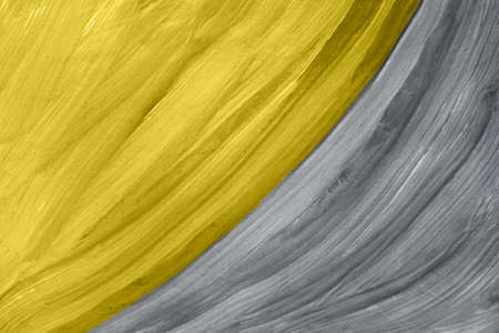 Abstract gouache painting yellow and gray colors. Art painting.