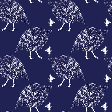fowls: Guinea fowls pattern Illustration