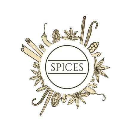 Spices vector emblem