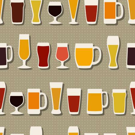 bock: Beer glasses pattern Illustration