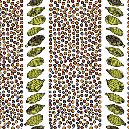 Spices seamless pattern Stock Photo