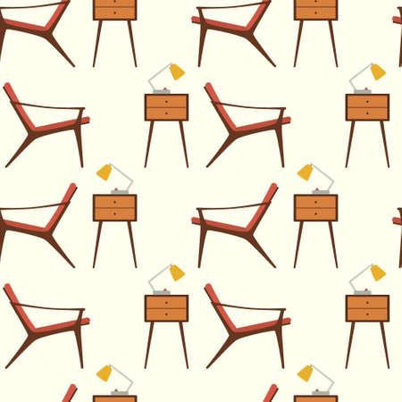 家具のシームレス パターン