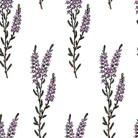 Heather seamless pattern
