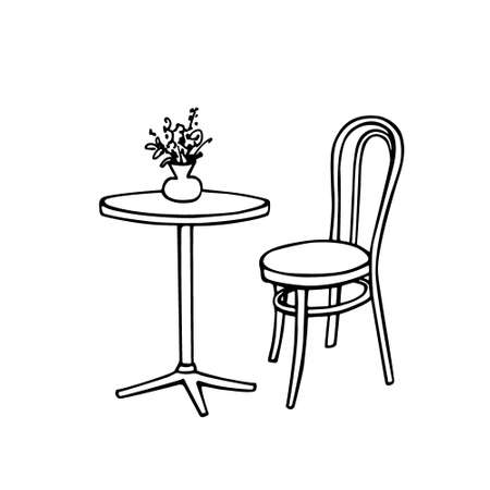 patio set: Cafe furniture illustration